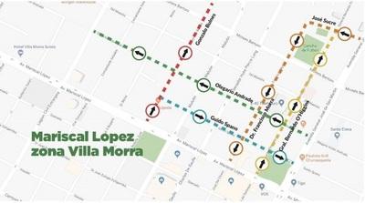 Desde el 25 de abril calles de Villa Morra cambian de sentido