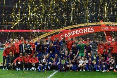 Barça gana su 30ª Copa del Rey con una 'manita'