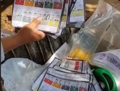 Papeletas de votación ya no tienen valor