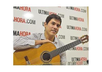 Guitarrista nacional Víctor Bordón actúa hoy en la  Argentina