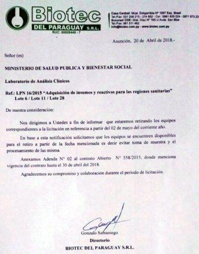 Hospitales de Itapúa, sin laboratorios de análisis
