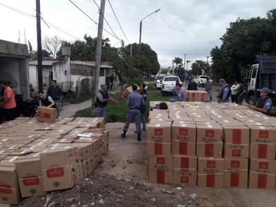 Argentina: caen cigarrillos de Cartes  valuados en unos G. 4.000 millones