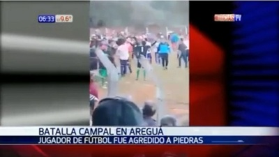 Pelea en partido de Liga Aregueña deja heridos