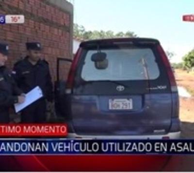 Hallan camioneta utilizada en asalto