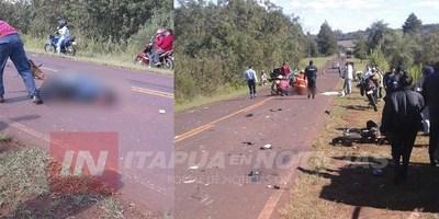 MOTOCICLISTA FALLECE TRAS ACCIDENTE EN NATALIO