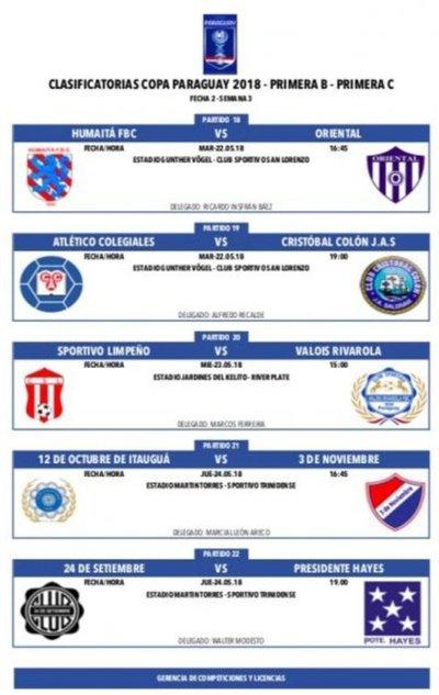 Semana con cinco juegos por Copa Paraguay