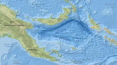 Sismo de magnitud 5,4 sacude a Papúa Nueva Guinea
