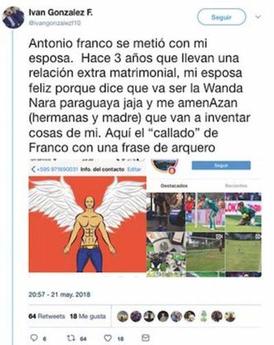 """Cuernos al aire: """"Antonio Franco se metió con mi esposa"""""""