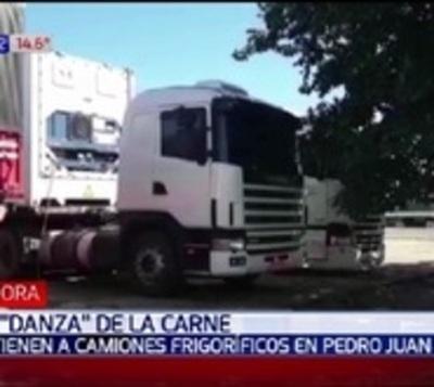 Retienen camiones frigoríficos en Pedro Juan Caballero