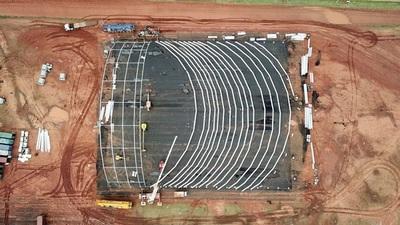 Montan hangar de show del Cirque du Soleil