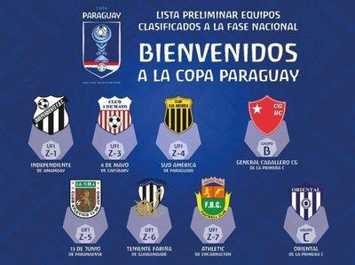Ocho clasificados a la Copa Paraguay