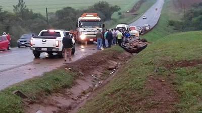 Grave accidente deja heridos en el Sur
