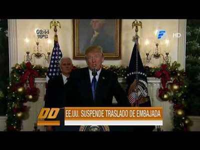 EE.UU. suspende por seis meses el traslado de su embajada en Israel