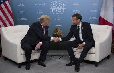 Saludo entre Trump y Macron capta la atención mundial