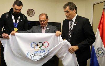 La bandera de los Juegos Sudamericanos ondeará en Paraguay hasta 2022