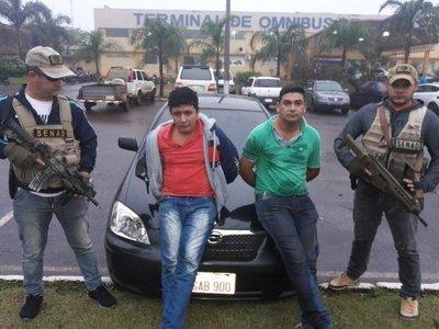 Detenidos con cinco kilos de cocaína en PJC