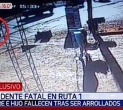 Imágenes revelan el fatal arrollamiento sobre Ruta 1