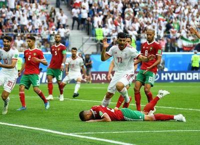 Con un gol en contra: en el último suspiro, Irán venció a Marruecos por la mínima