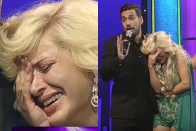 Claudia de Andrade pasó mal en Teleshow