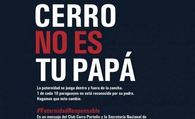 HOY / #PaternidadResponsable: en el Día del Padre, Cerro insta a asumir compromisos con los hijos