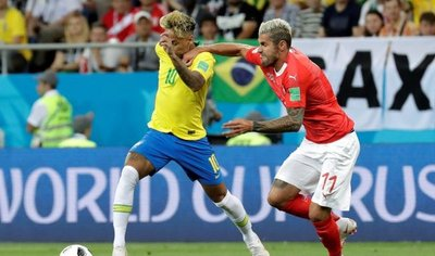 Brasil empata ante Suiza en su debut mundialista