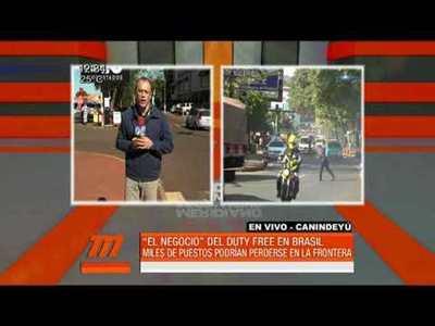 """Repercusión de los """"Duty Free"""" en la frontera paraguaya"""