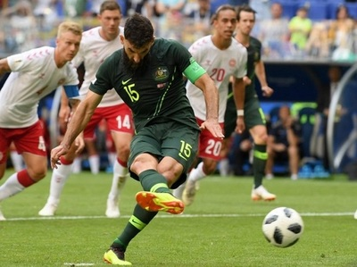 Dinamarca no puede con Australia en el grupo de Perú