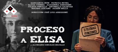 """HOY / Últimas dos funciones de la obra """"Proceso de Elisa"""""""