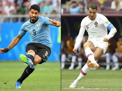 Uruguay-Portugal, un choque de temibles ofensivas