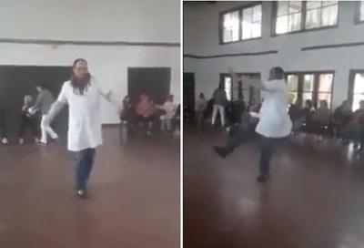 VIDEO: El doctor bailarín alegró a sus pacientes ancianos y se hizo viral
