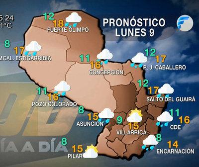 Frio, vientos del sur y precipitaciones ligeras