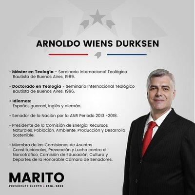 Marito confirmó a Wiens para Obras Públicas