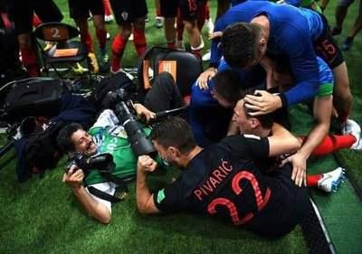 Un fotógrafo, víctima colateral de la celebración de Croacia
