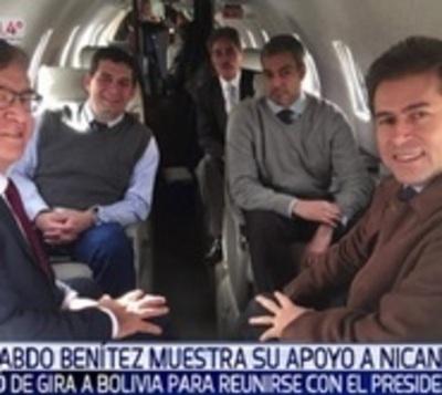 Marito brinda apoyo a Nicanor Duarte Frutos invitándolo a viaje