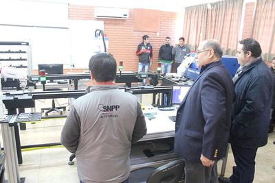 SNPP inaugura moderno laboratorio de mecatrónica en su sede de Hernandarias