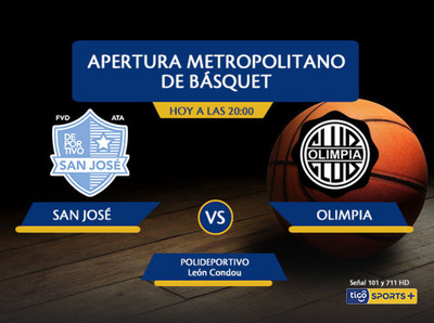 Deportivo San José versus Olimpia, por Tigo Sports +