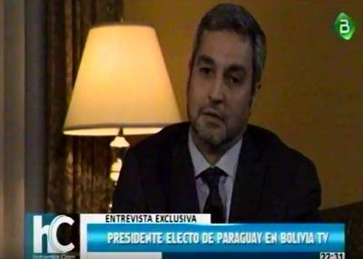 Marito promete gestionar ingreso como miembro pleno de Bolivia al Mercosur