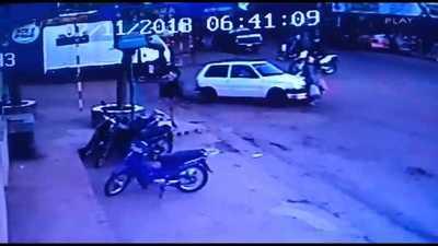 Madre e hija fueron atropelladas por un vehículo