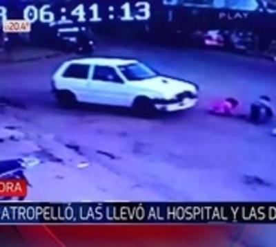 Extraño accidente deja con heridas a una niña y a su madre