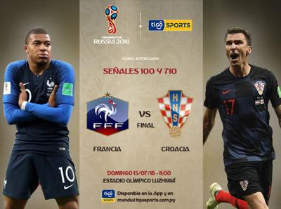 Francia y Croacia, en vivo por Tigo Sports