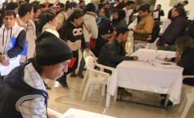 Harán feria de empleo en zona de la Chacarita