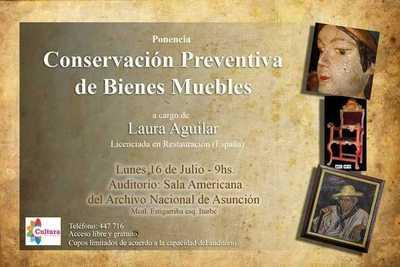 Invitan a charla sobre conservación preventiva en el Archivo Nacional