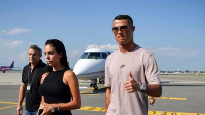 Cristiano Ronaldo ya está en Turín