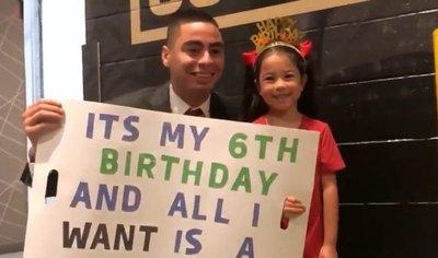 El tierno pedido a Miggy Almirón de una pequeña fan de 6 años