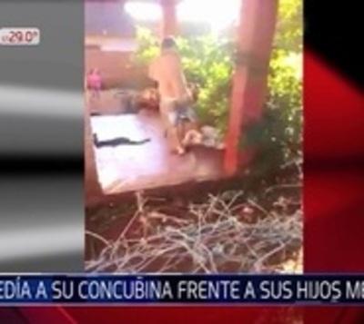 Terrible agresión a mujer: Vecinos lo grabaron y quedó detenido