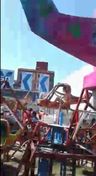 Niña se accidentó en parque de diversiones de la Expo