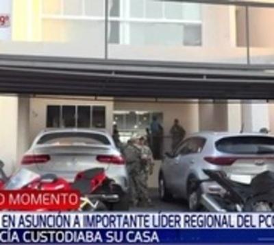 Policía custodiaba vivienda del líder de PCC capturado en Asunción