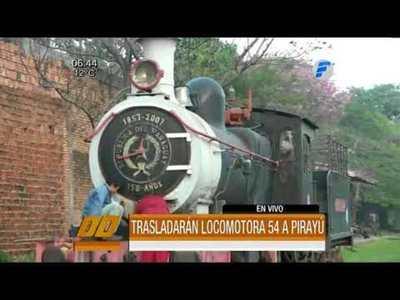 Trasladarán vieja locomotora a Pirayú