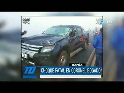 Choque fatal en Coronel Bogado