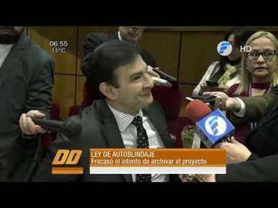 """Rechazan propuesta de derogar Ley de """"Autoblindaje"""""""